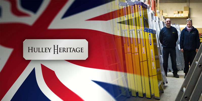 Hulley Heritage Range wooden step ladders made in Sheffield UK