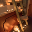Bathroom wooden step ladders