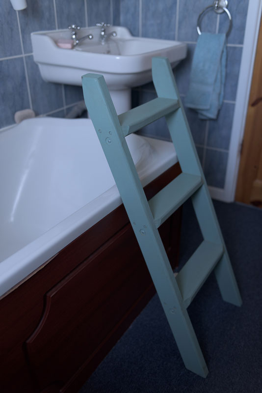 Lean to step ladders, practical and decorative items for interior and exterior use