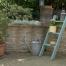 Sage green lean to ladder