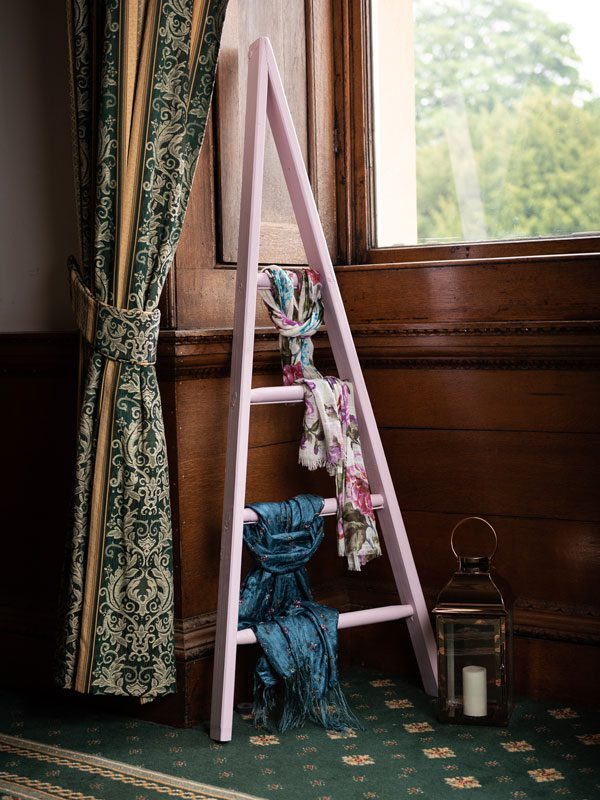 orchard ladder painted in sweet pea