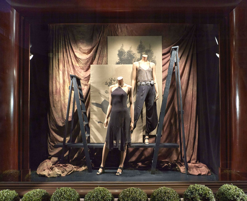 Hulley step ladder used in Ralph Lauren window displays